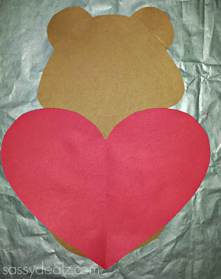 bear valentine craft for kids