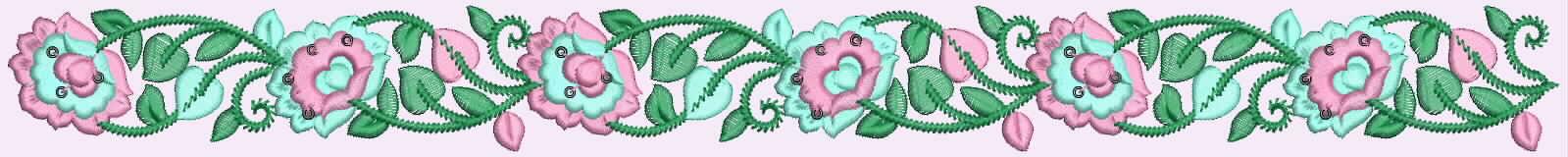 Phantasie Spitzen Grenze auf rosa Samt