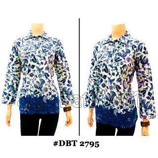 DBT2795 - Baju Bluse Batik Wanita Terbaru 2013