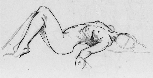 How To Draw A Person Lying On Their Back