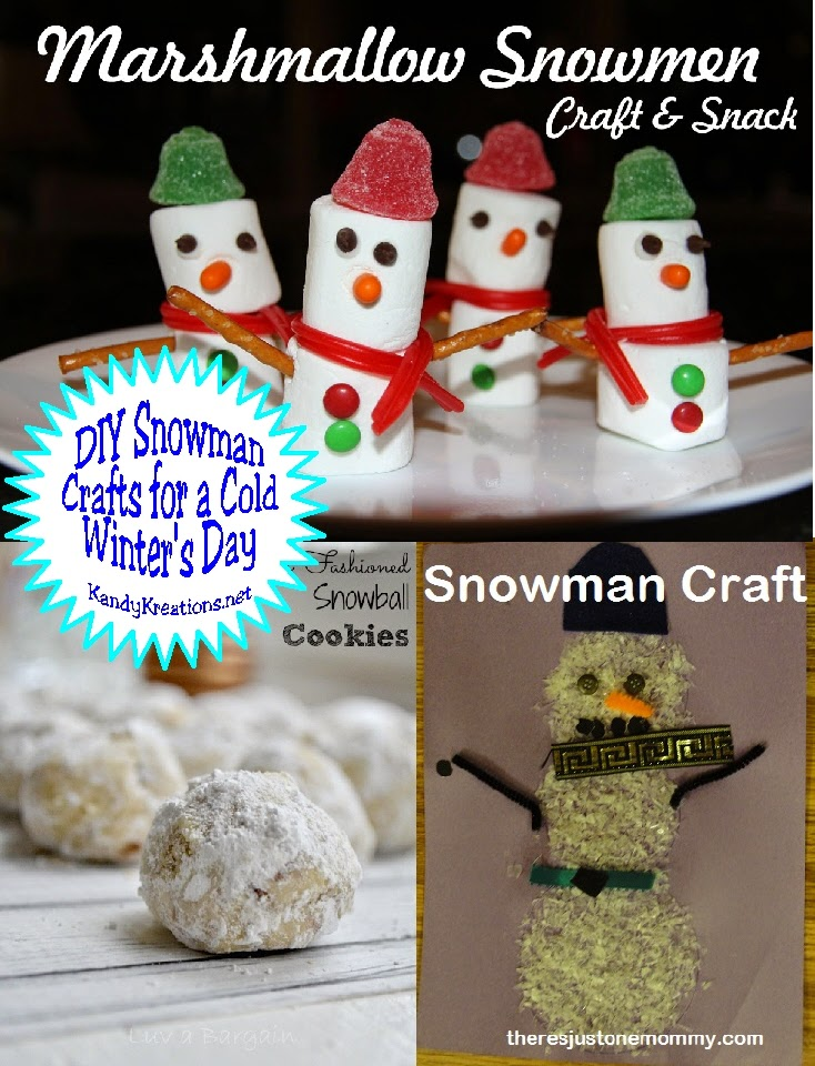 Enjoy some fun snowman crafts to DIY during the winter weather this week as we share lots of fun, new projects at this week's Dare to Share Saturday linky party!