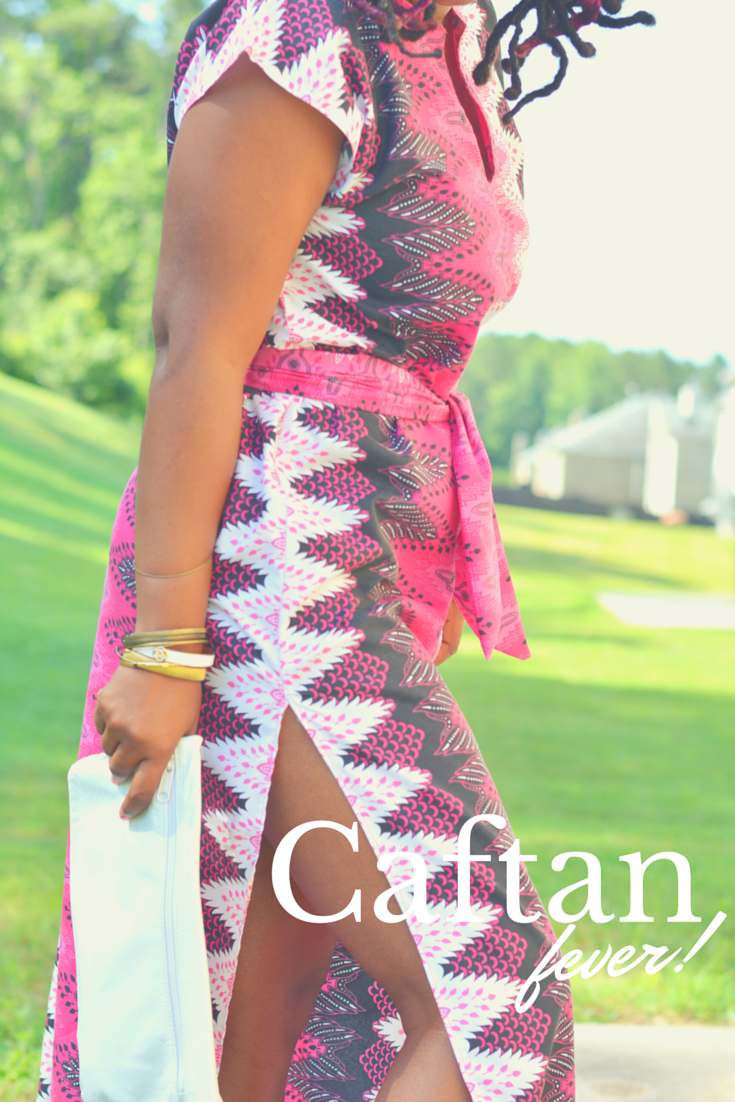 caftan dress with african print