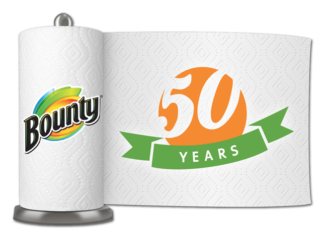 Bounty Celebrates 50 Years as America's #QuickerPickerUpper