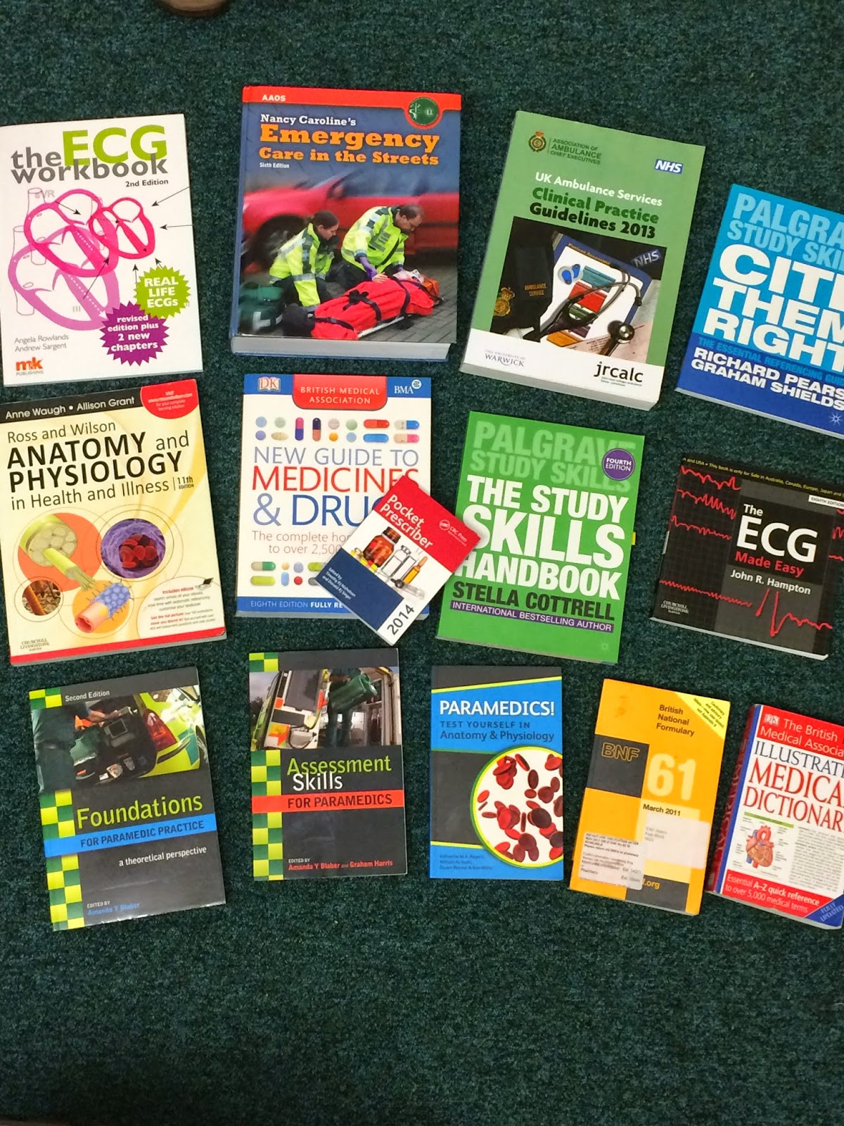 50 Shades of Green: My Student Paramedic Reading List