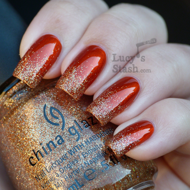 Diy Autumn Gradient Nail Art: Fall Glitter Gradient With OPI And China Glaze