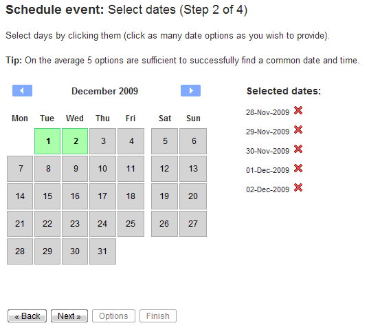 how to delete a booking page in schedule once