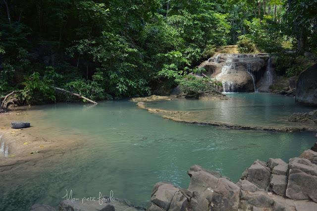 Les chutes d'Erawan ( à 30 min de Kanchanaburi)