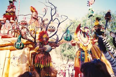 Lion King Celebration Disneyland percussion float