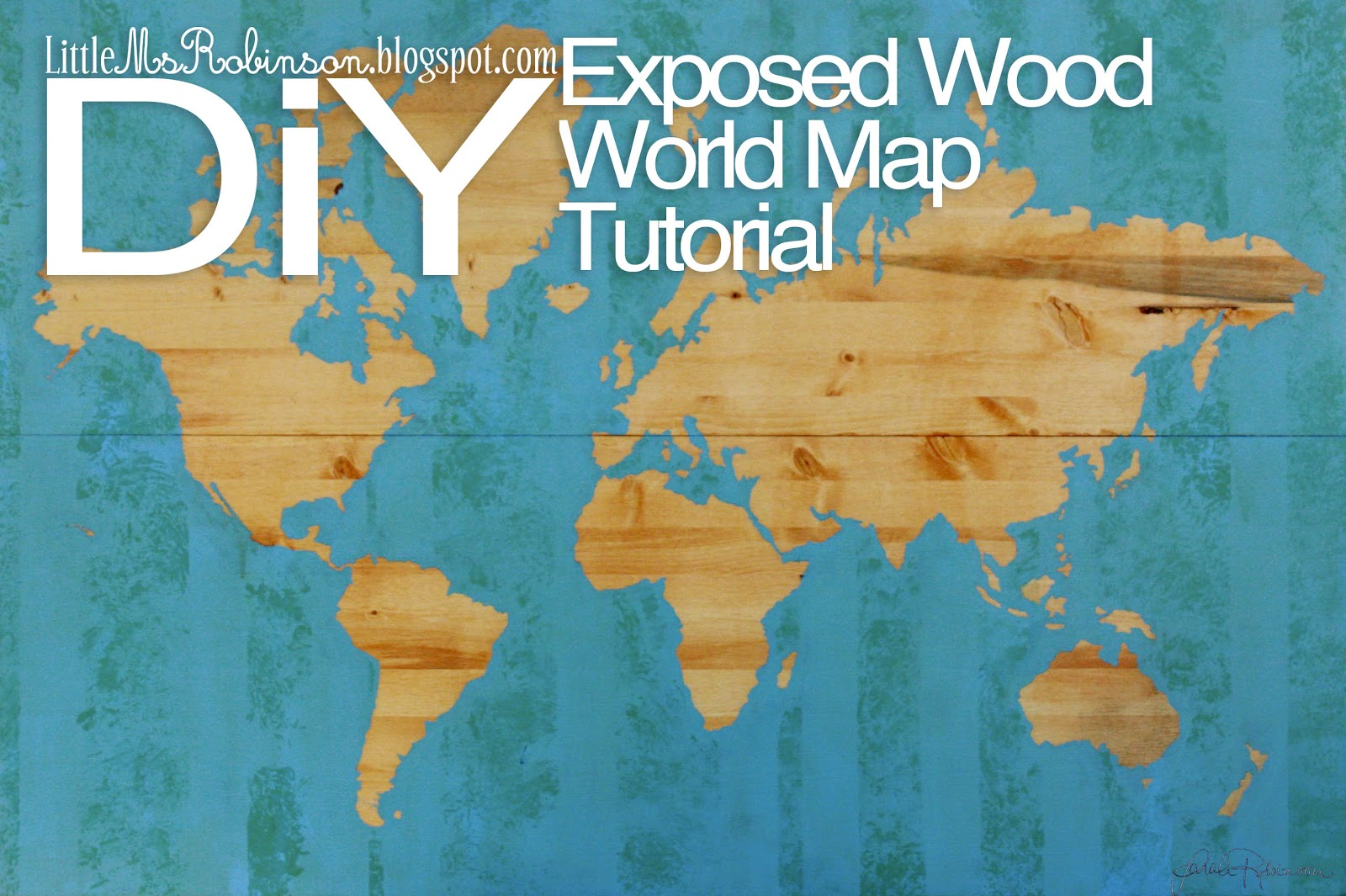 For The Love Of Tuesdays DIY Exposed Wood Map