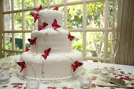 Martha Stewart Butterfly Garden Wedding Cake