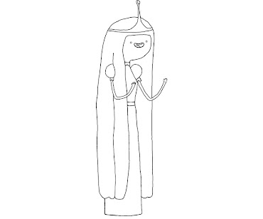 #7 Princess Bubblegum Coloring Page