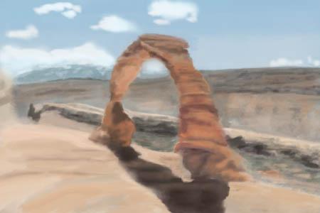 Utah desert landscape Photoshop study 2