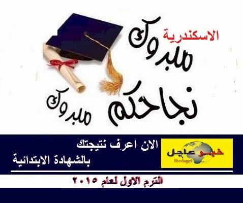 الان برقم الجلوس .. نتيجة الشهادة الابتدائية الترم الاول بمحافظة الاسكندرية لعام 2015