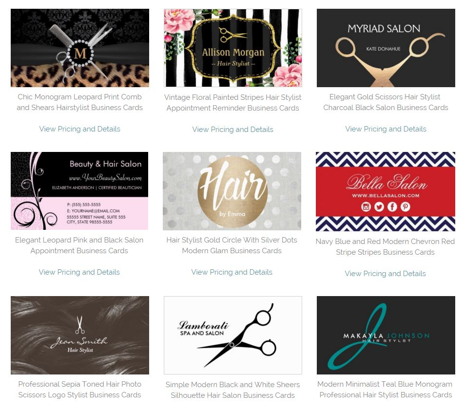 Girly Business Cards