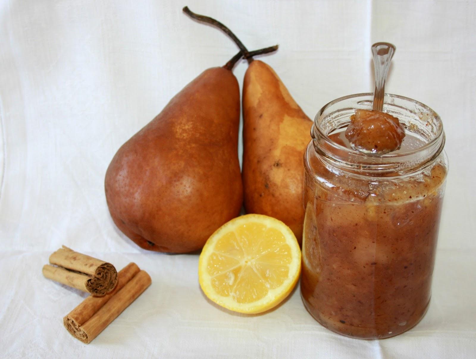 confettura di pere e cannella e zeste limone