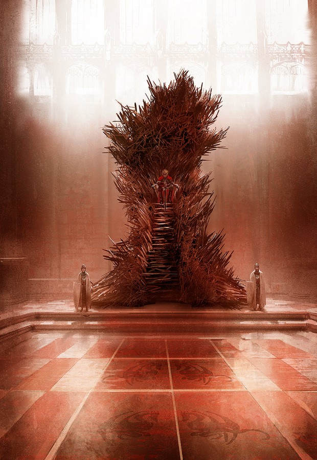 George R.R. Martin and the real Iron Throne looks like