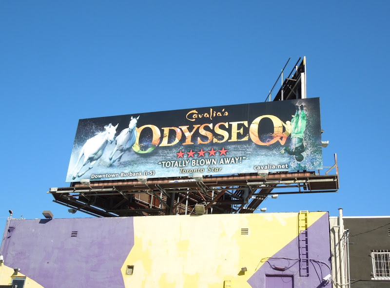 Cavalias Odysseo show billboard
