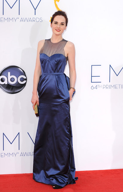 Michelle Dockery vestido de Louis Vuitton Emmy 2012