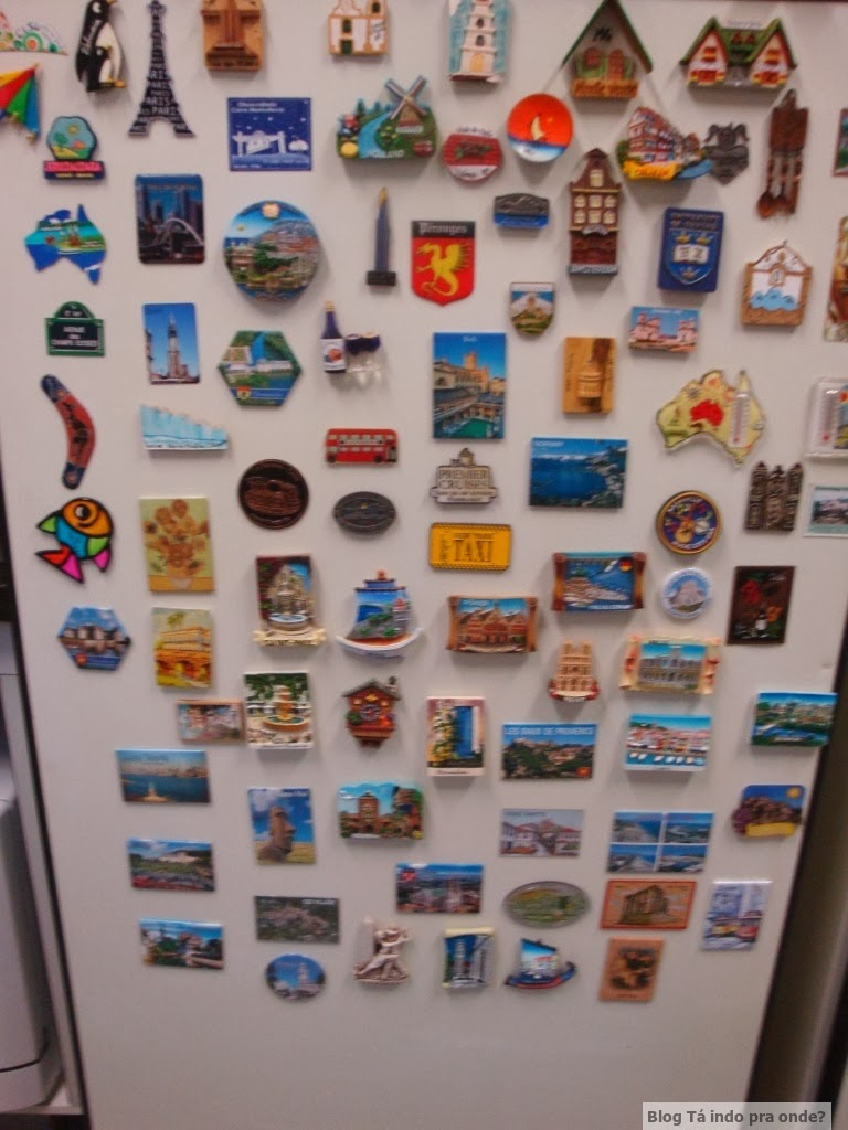 coleção de imã de geladeira