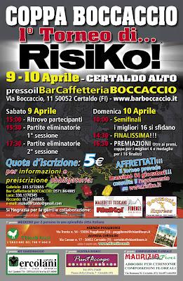 Locandina Torneo di RisiKo! 1a Coppa Boccaccio