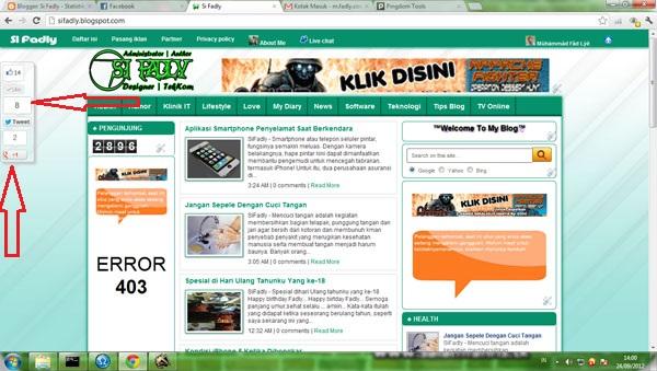 Membuat Blogspot Menjadi Seperti Website Profesional