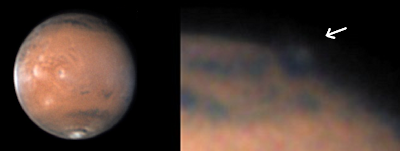 Cloud Spotted on Mars by Amateur Astronomer