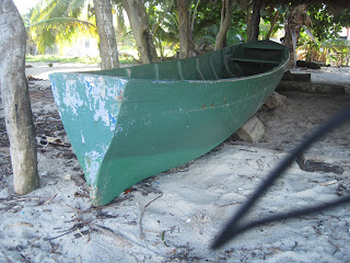 Belize dugout canoe with transom