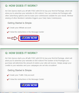cara daftar ad click xpress