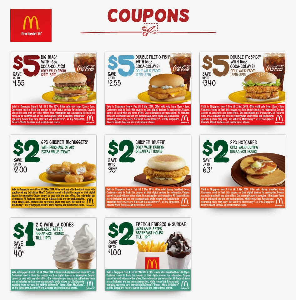 Mc mcdonalds coupons