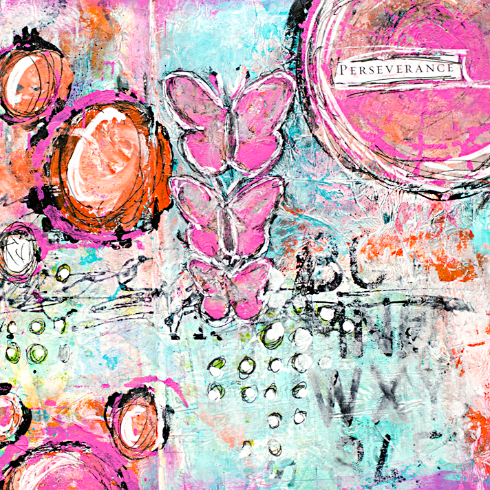 mixed media art journal page using the Documented Life Project 2015 prompts for Week 5