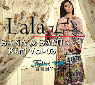 Sana & Samia Digital Embroidered Kurti 2015 Vol-3