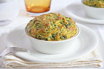 Soufflè di tagliolini agli spinaci