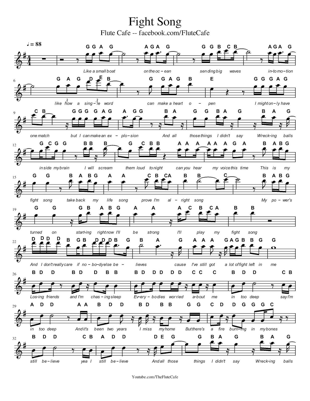 New Flute Sheet Music