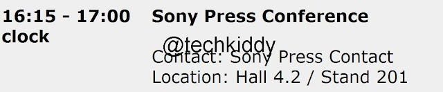 Sony Press Conference Details Leak