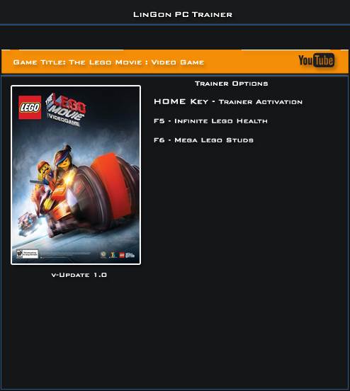 The Lego Movie Video game v1.0 Trainer +2 [LinGon]