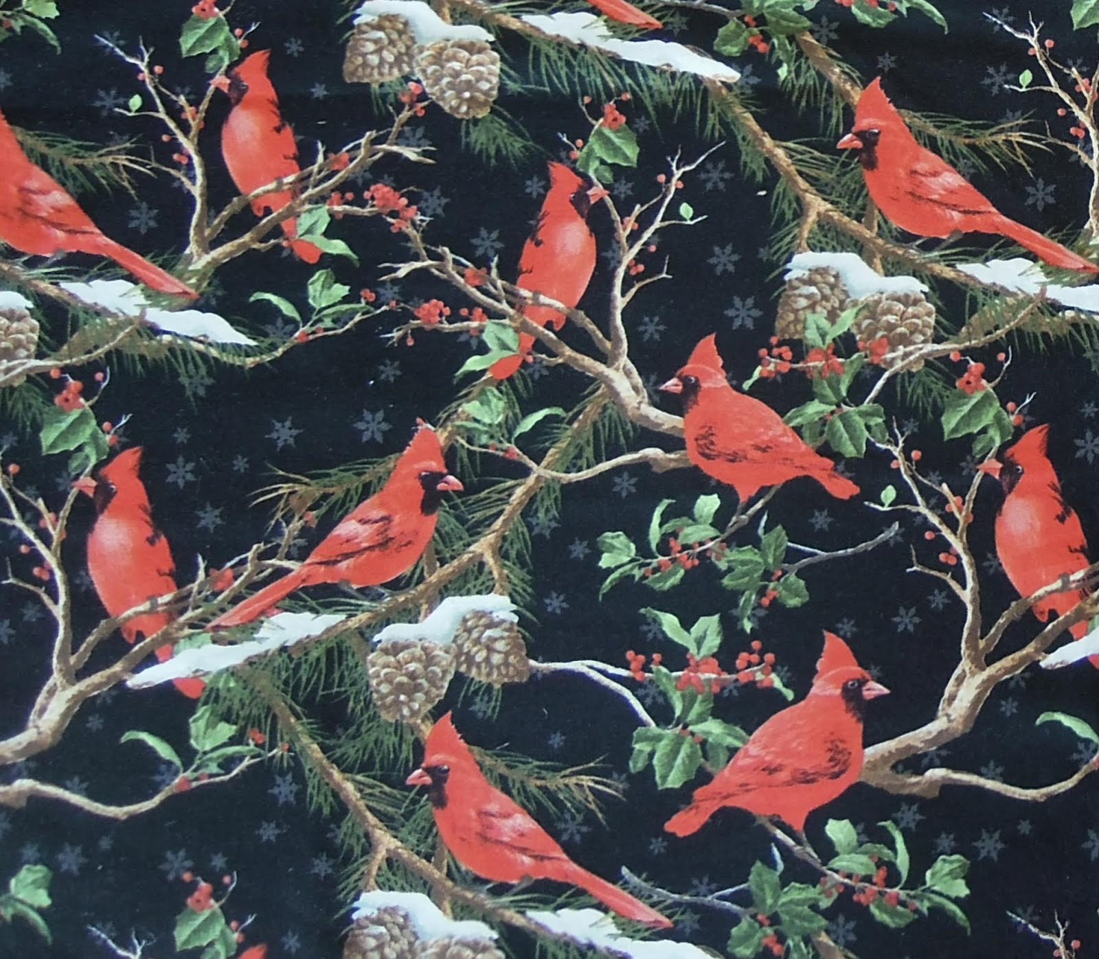 1.5 yds Cardinal fabric... only $7.99!