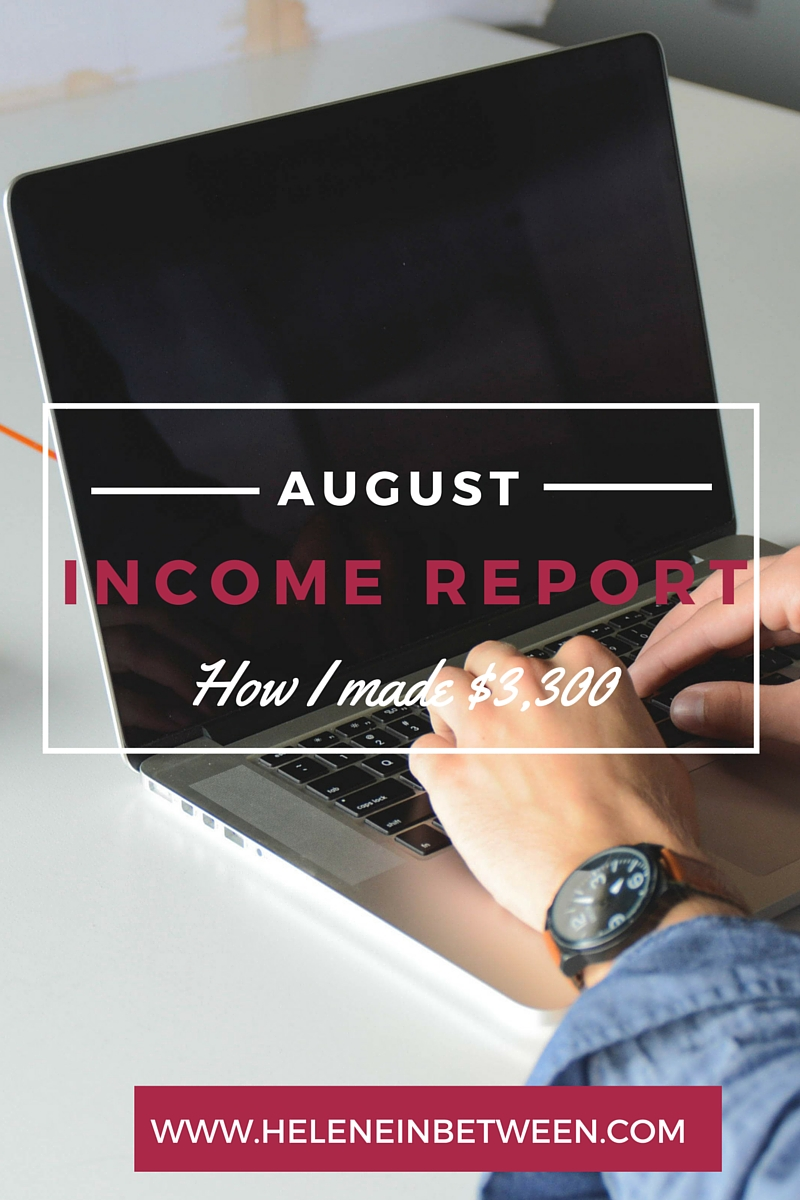 Blogging Income Report For August 2015