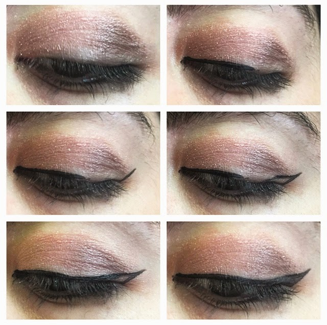 I first apply my eye makeup, I created this look using the Naked 3 Palette.