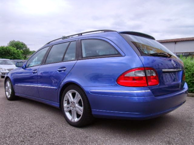 mercedes benz s211 blue designo