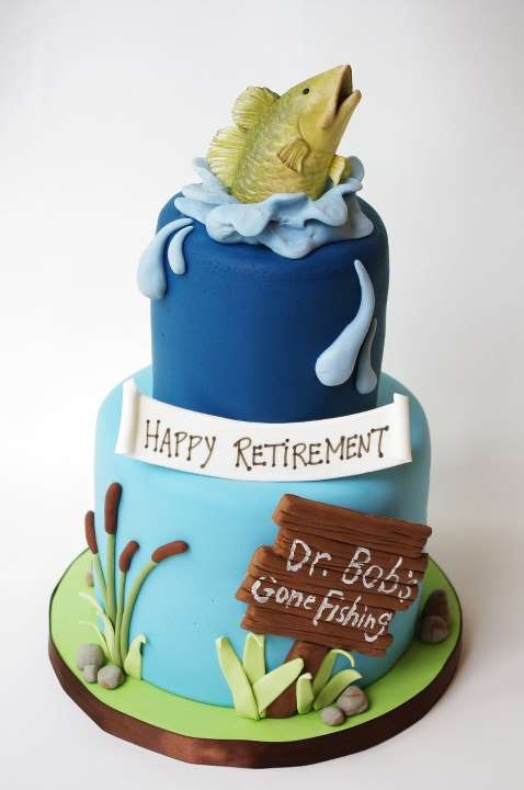 Fishing retirement cake cake ideas and designs for Gone fishing cake