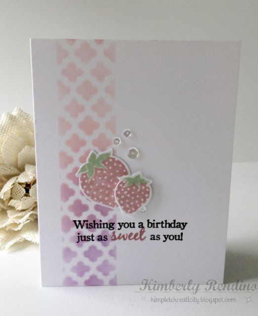 Strawberry Patch card | kimpletekreativity.blogspot.com