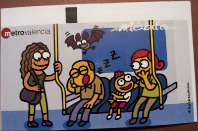 billete del metro de Valencia Kukuxumusu 2011