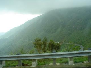 Truong Son catena montuosa. Danang (Vietnam)