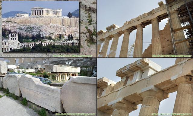 Parthenon, em Athenas, ícone e referência da arquitetura clássica mundial