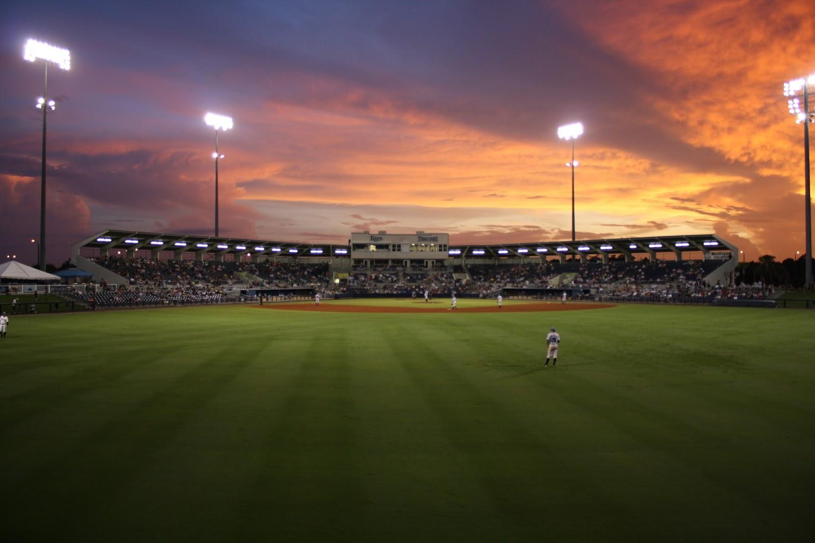 Softball field photography