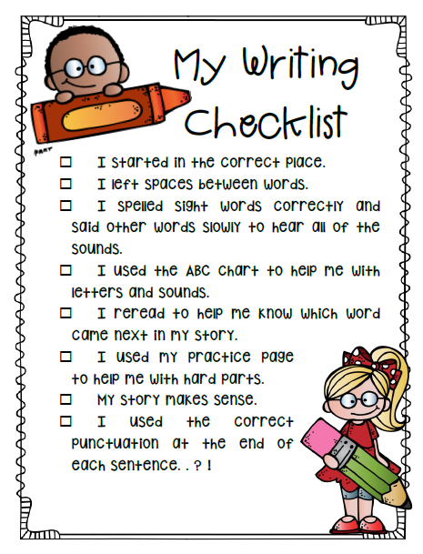 Writing Workshop Small Moments: Edit and Revise Checklist freebie ...