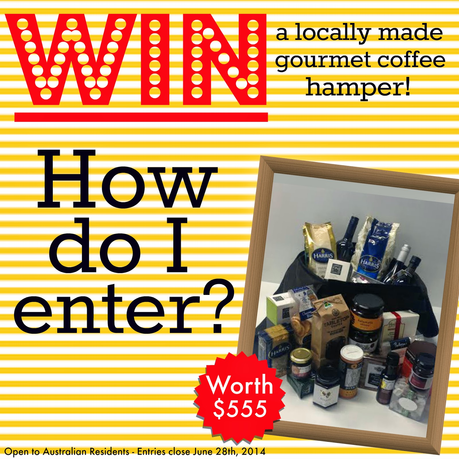 Win a Locally Made Gourmet Hamper from Harris Coffee