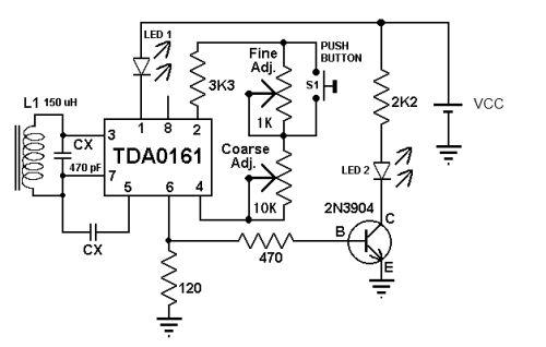 metal detector using tda0161