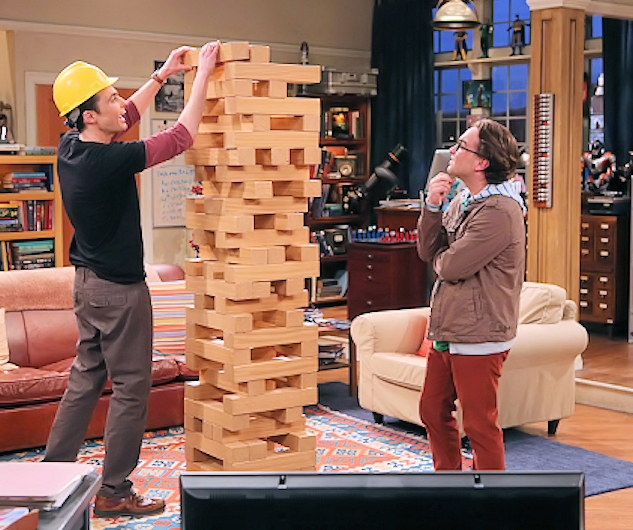Giant Jenga as seen on 'The Big Bang Theory'