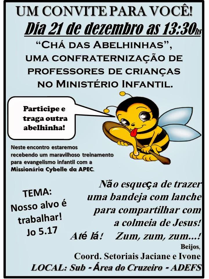 CONVITE PARA VOCÊ PROFESSOR(A) DE CRIANÇA!